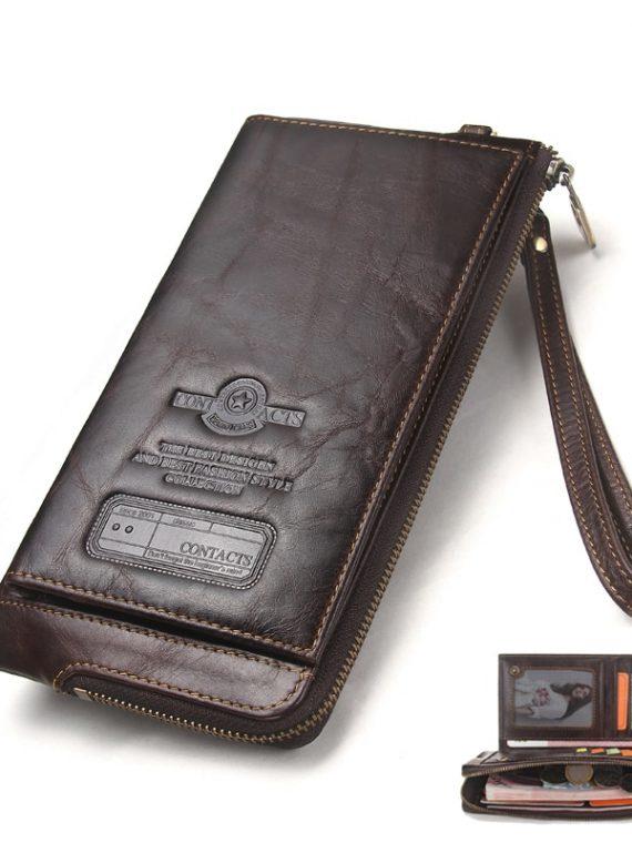 กระเป๋าสตางค์ใบยาว ราคาถูก กระเป๋าสตางค์ใบยาว ผู้ชาย ผู้หญิง กระเป๋าสตางค์ใบยาว สีดำ สีกาแฟ สีฟ้า สีเขียว สีแดง กระเป๋าเงิน rfid blocking กระเป๋าสตางค์ rfid