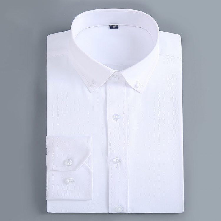 เสื้อเชิ้ตผู้ชาย คอปกกระดุม แขนยาว เสื้อเชิ้ตแขนยาว ราคาถูก ราคาส่ง แฟชั่น เสื้อเชิ้ตผู้ชายสีขาว เสื้อเชิ้ตผู้ชายสีกรม เสื้อเชิ้ตแขนยาวผู้ชาย ใส่ทำงาน