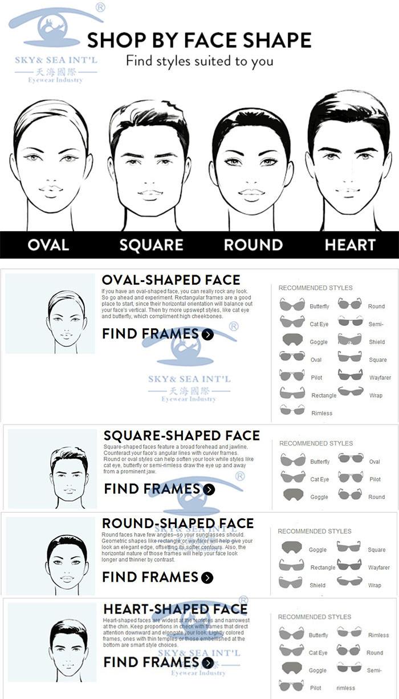 รูปหน้า กับ ทรงแว่นตา หน้ารูปไข่ หน้าเหลี่ยม หน้ากลม หน้ารูปหัวใจ เลือก แว่นสายตา ให้เข้ากับรูปหน้า ผู้หญิง เลือกแว่นกันแดดให้เข้ากับหน้า ผู้ชาย กรอบแว่น
