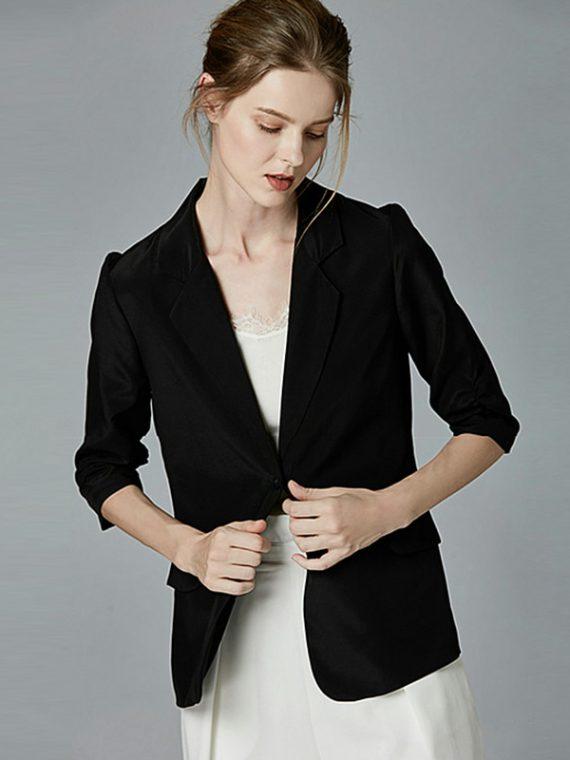 เสื้อสูท blazer ผู้หญิง สีดำ สีขาว