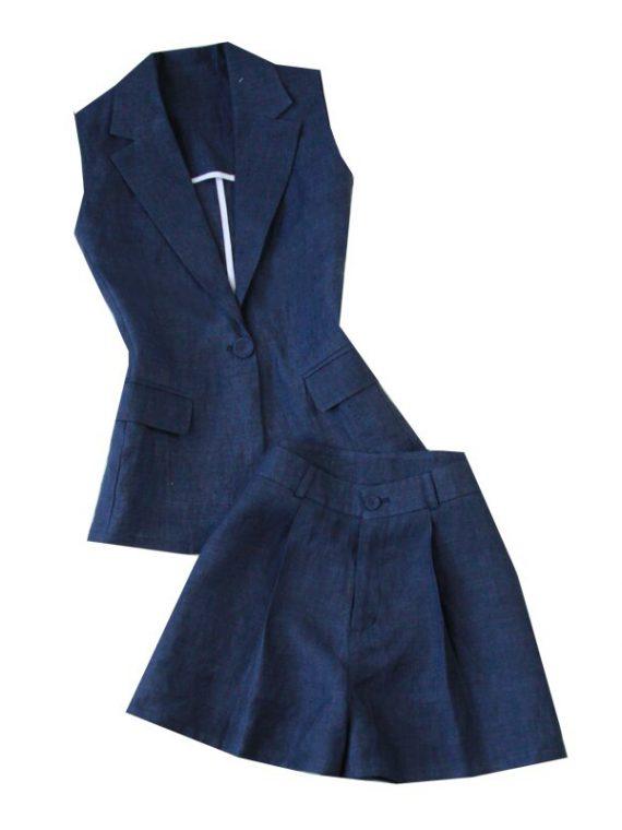ชุดสูทแขนกุด กางเกงขาสั้น