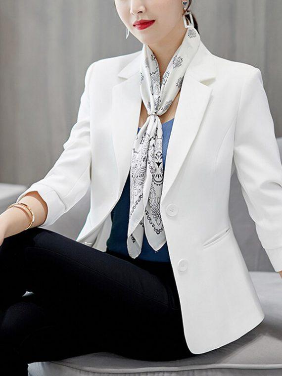 blazer สีขาว สีดำ