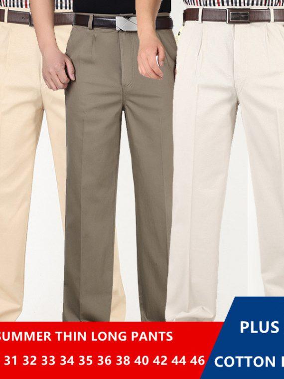กางเกงทํางานผู้ชาย กางเกงใส่ทํางานสีดํา กางเกงสแล็ค สีดำ สีกรม สีขาว สีเทา กางเกงสแลคชายทำงาน กางเกงทำงานคนอ้วน ผู้ชายอ้วน เอวสูง กางเกงทำงาน ไซส์ใหญ่