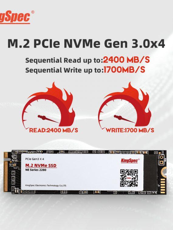 ฮาร์ดดิส โน๊ตบุ๊ค ssd KingSpec 3D NAND 256GB 512GB 1 TB M.2 NVMe PCIe SSD Internal Hard Disk for Laptop /notebook ฮาร์ดดิสก์ พกพา ฮาร์ดดิสก์ภายนอก โน้ตบุ๊ค เคสใส่SSD