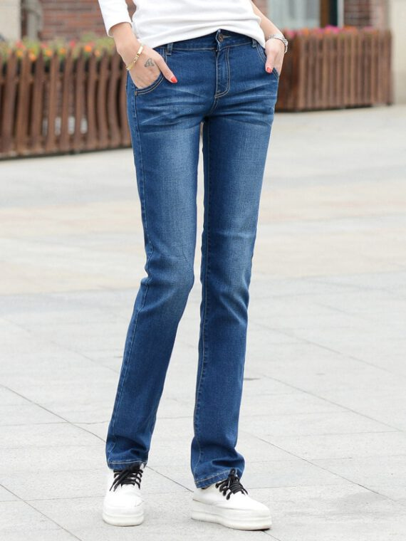 กางเกงยีนส์ผ้ายืด หญิง wj39