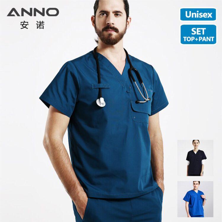 ชุดห้องผ่าตัด ANNO ชุดฟอร์มห้องผ่าตัด ชุดห้องคลอด ชุดสครับ แพทย์ พยาบาล เสื้อ scrubb ชุด scrub nurse ชุดห้องผ่าตัด สีน้ำเงิน สีกรม สีฟ้า
