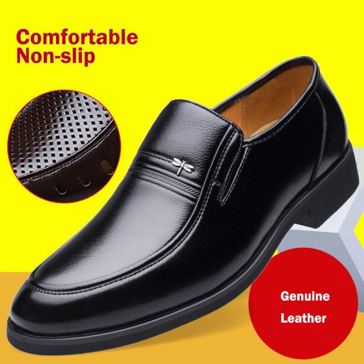 รองเท้าทำงานผู้ชาย รองเท้าหนังผู้ชาย 2020 รองเท้าหนังแท้ผู้ชาย รองเท้าหนังผู้ชายสีดำ รองเท้า ผู้ชาย ทำงาน รองเท้าผู้ชายแบบสวม รองเท้าหนังชาย