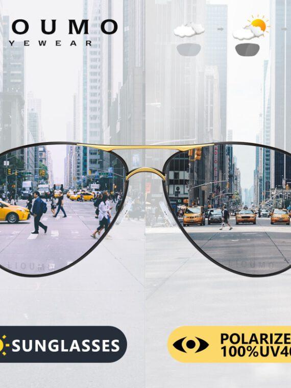 แว่นตากันแดด โพลาไรซ์ ปรับแสง ออโต้ ทรง aviation