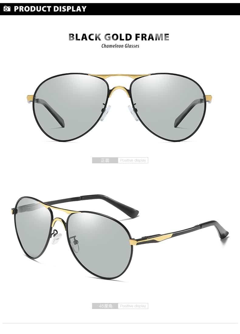 Fashion Design Aviation Sunglasses Polarized Men Women Chameleon Sun Glasses Anti-Glare UV400 Safety Driving Goggle gafas de sol