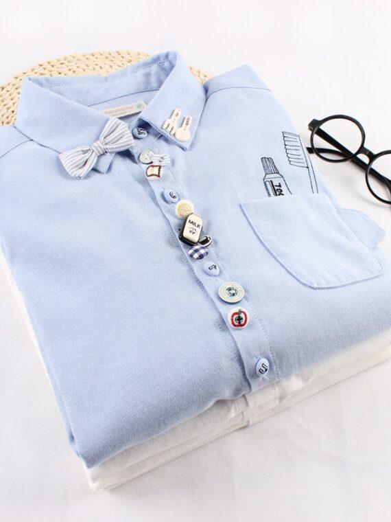 เสื้อเชิ้ต ญี่ปุ่น เกาหลี เสื้อสไตล์ญี่ปุ่น เสื้อผ้าน่ารักสไตล์ญี่ปุ่น เสื้อ เชิ้ต เสื้อเชิ้ตผู้หญิง สีขาว สีฟ้า น่ารักๆ ผู้หญิง น่า รัก มาก