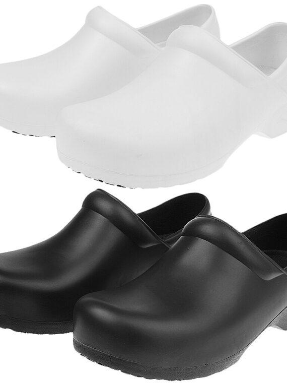 รองเท้ากันลื่น สลิปออน สีขาว