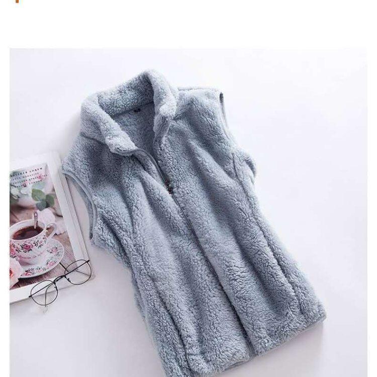 เสื้อกั๊ก กันหนาว กันลม 2ด้าน เสื้อกันหนาว แขนกุด ผู้หญิง เสื้อกันหนาวขนเฟอร์ เสื้อ กัน หนาว สอง ด้าน ขน เฟอร์ เสื้อกันหนาวมีซิป เสื้อฟลีซ