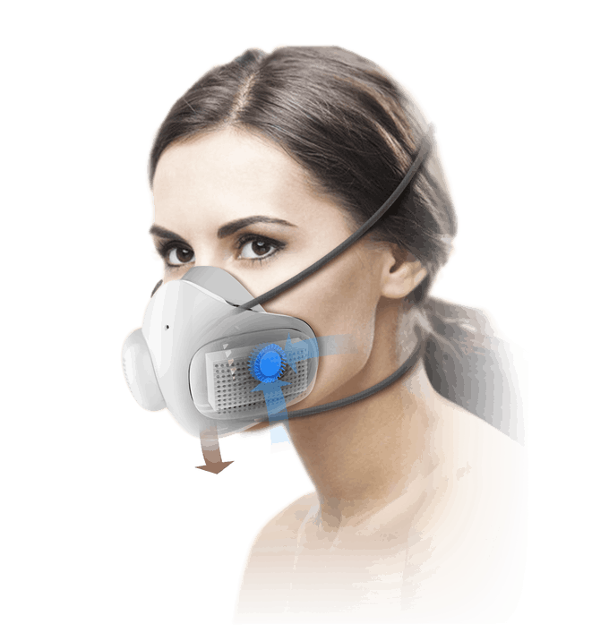 ATMOBLUE Electric Face Masks Fashion Christmas Gift Mouth Anti Dust Pollution Reusable Smart Washable For Adults